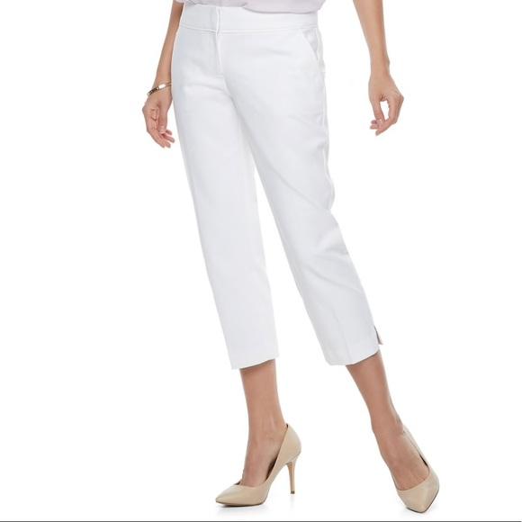 2fdb4c55110 Apt. 9 mid-rise white torie capri pants